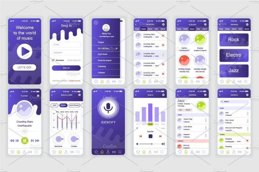 002 Sensational Mobile App Design Template Inspiration  Size Adobe Xd Ui Psd Free Download868