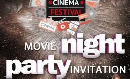 002 Sensational Movie Night Flyer Template Photo  Editable Psd Free