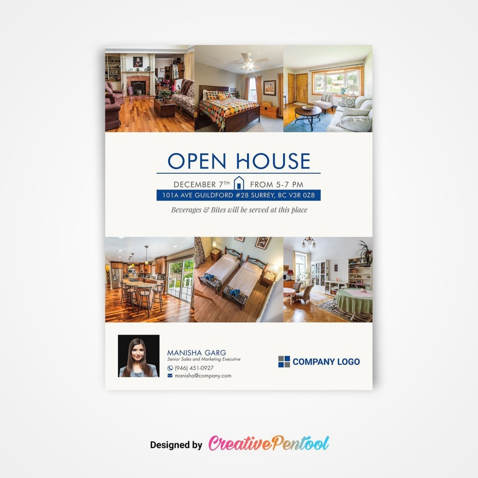 002 Sensational Open House Flyer Template Word High Definition  Free Microsoft960