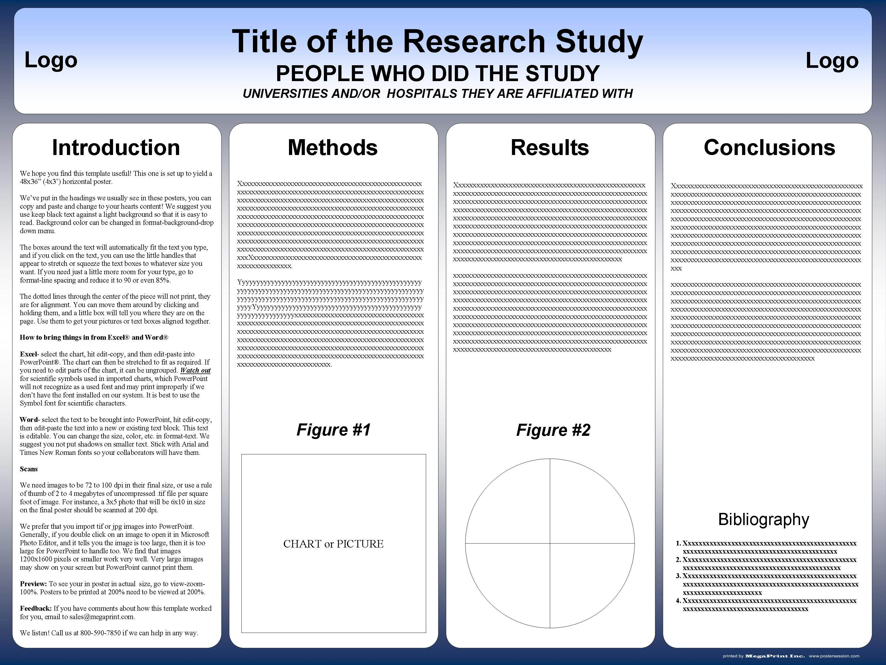 002 Sensational Research Poster Template Powerpoint Design  Scientific PptFull
