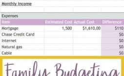 002 Sensational Simple Household Budget Template High Resolution  Excel Google Sheet Home Form