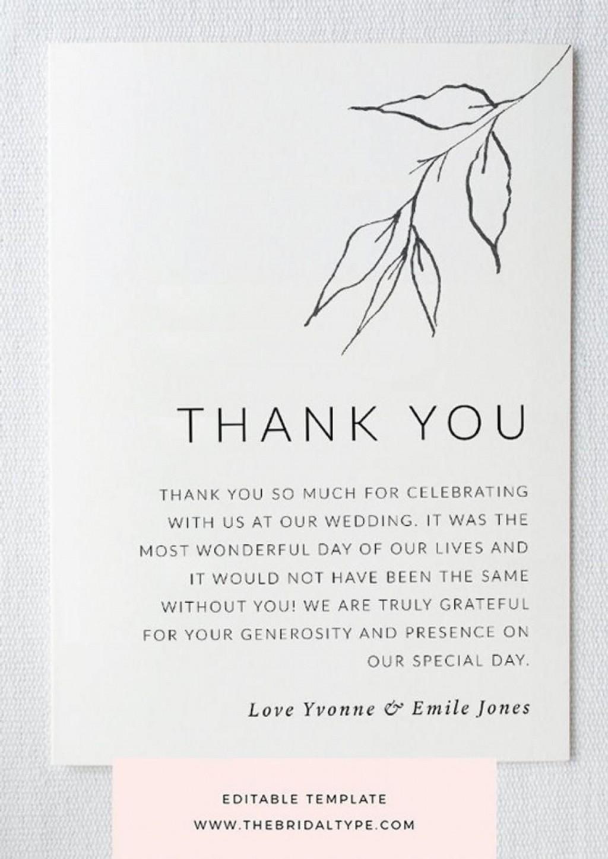 002 Sensational Thank You Note Template Wedding Shower Highest Clarity  Bridal Card Sample WordingLarge