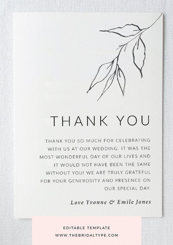 002 Sensational Thank You Note Template Wedding Shower Highest Clarity  Bridal Card Sample Wording1920