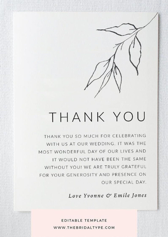 002 Sensational Thank You Note Template Wedding Shower Highest Clarity  Bridal Card Sample WordingFull