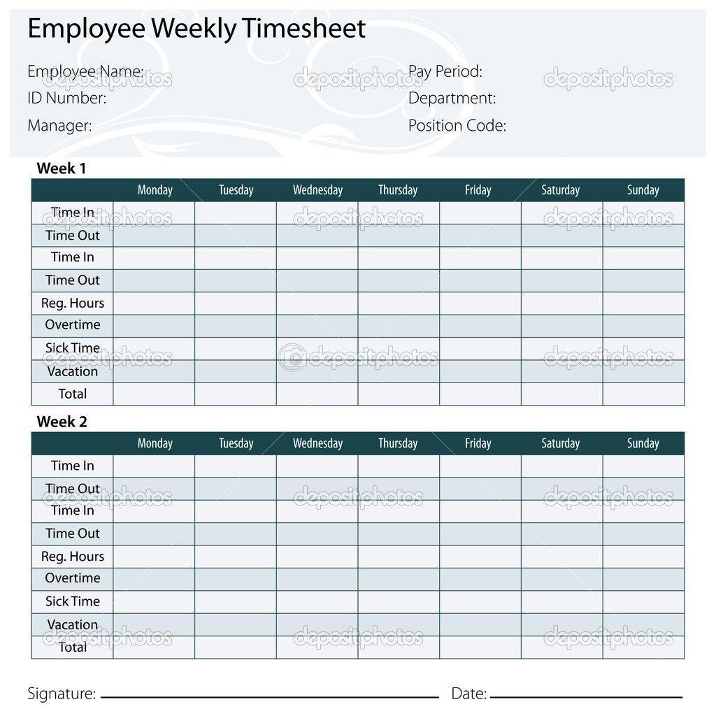 002 Sensational Weekly Timesheet Template Excel Photo  Simple FreeFull