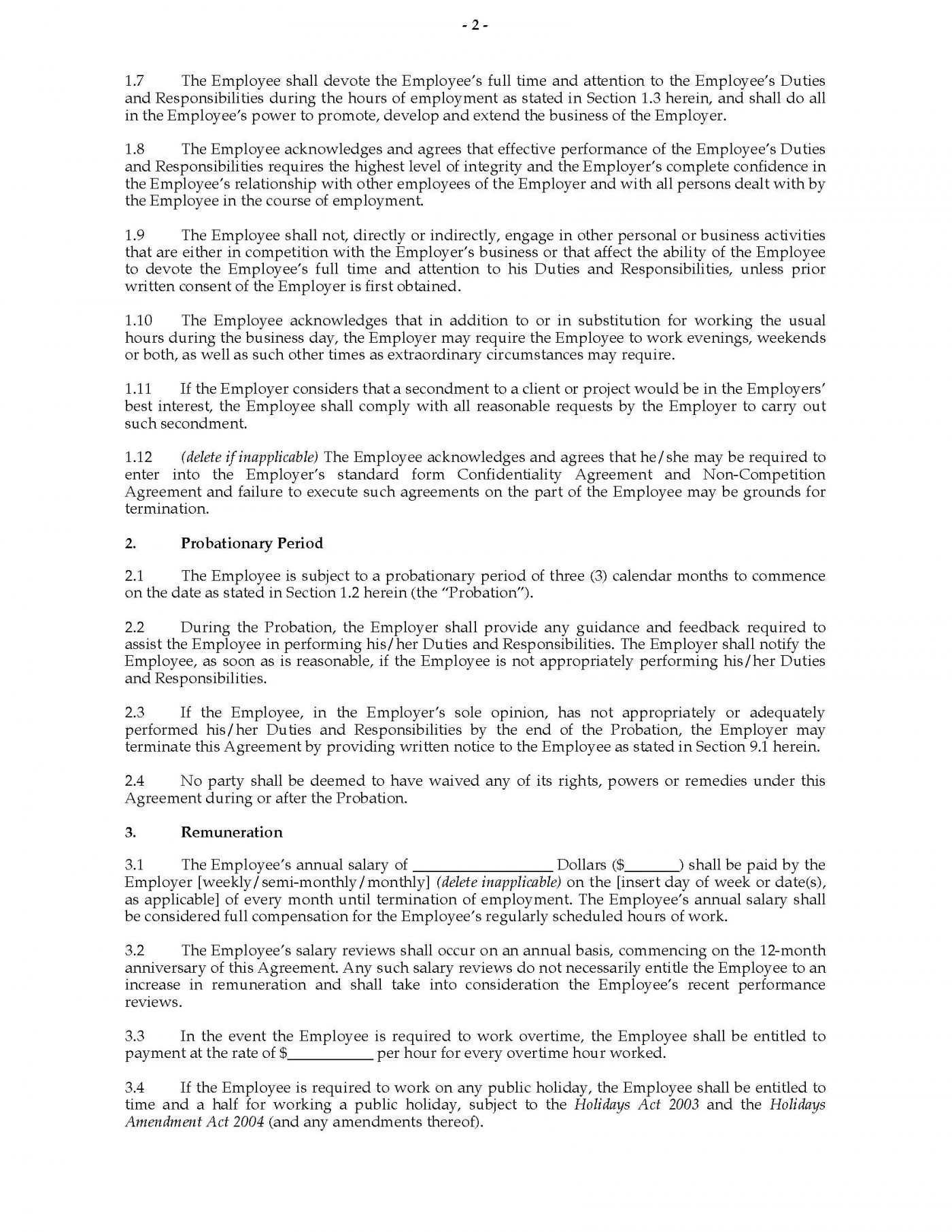 002 Shocking Basic Employment Contract Template Free Nz Image 1400