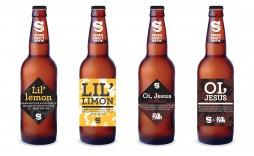 002 Shocking Beer Bottle Label Template Concept  Free Dimension Word