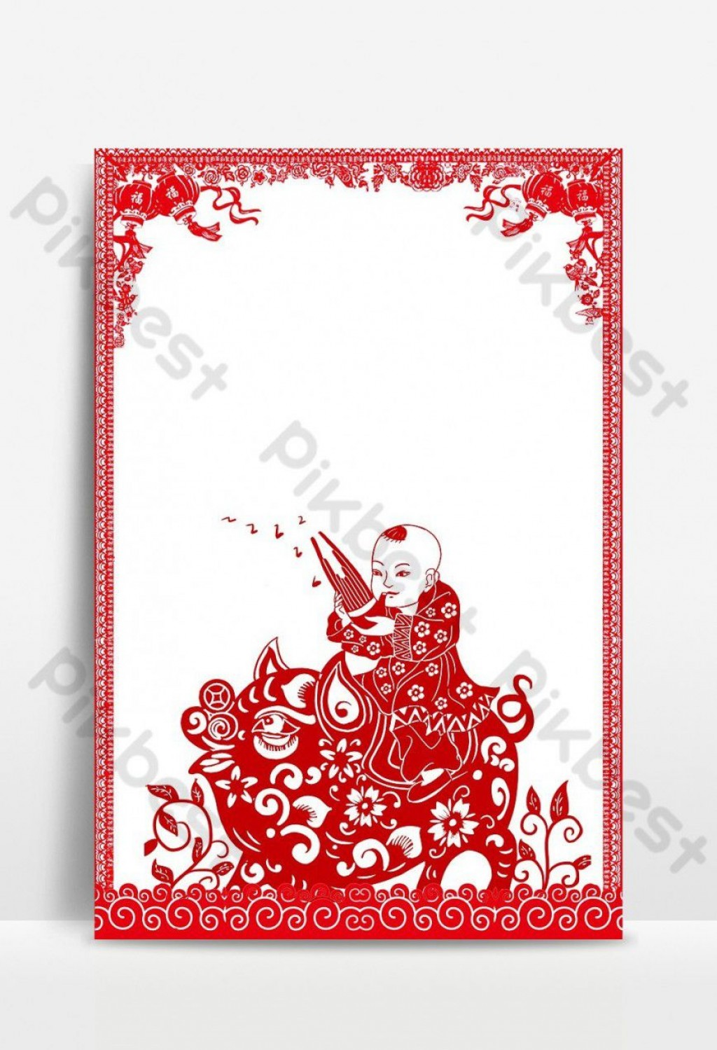 002 Shocking Chinese Paper Cut Template Highest Quality Large