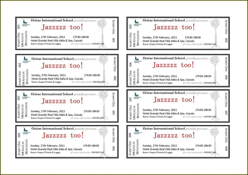 002 Shocking Concert Ticket Template Word Highest Quality  Free MicrosoftLarge