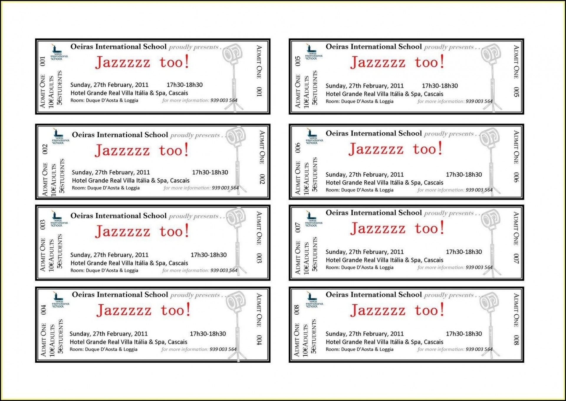 002 Shocking Concert Ticket Template Word Highest Quality  Free Microsoft1920