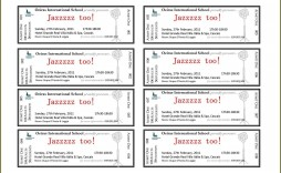 002 Shocking Concert Ticket Template Word Highest Quality  Free Microsoft