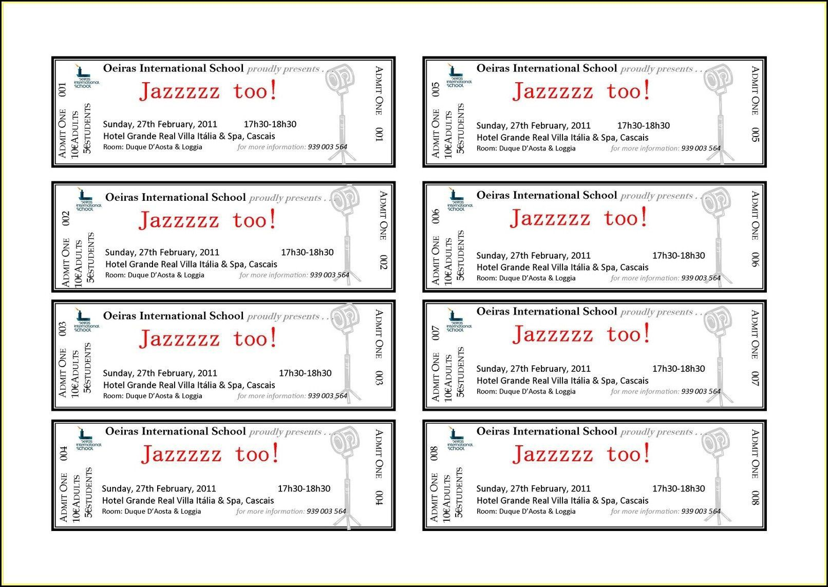 002 Shocking Concert Ticket Template Word Highest Quality  Free MicrosoftFull