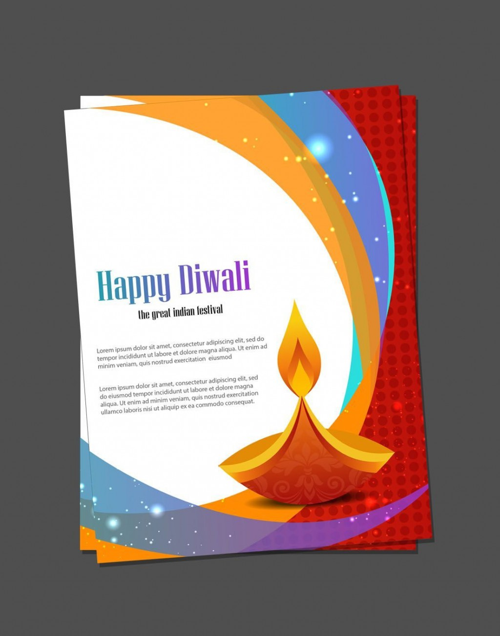 002 Shocking Diwali Party Invite Template Free High Def Large