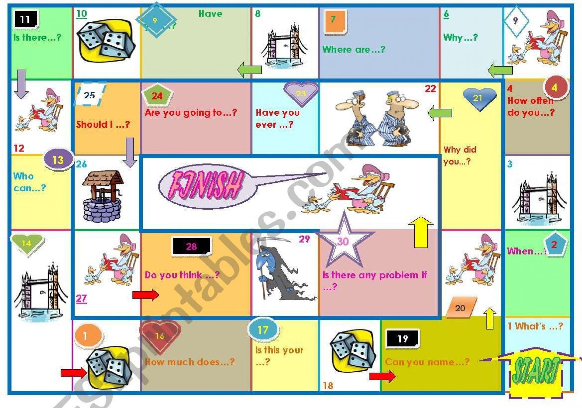 002 Shocking Editable Board Game Template Photo  Word Blank Free1920