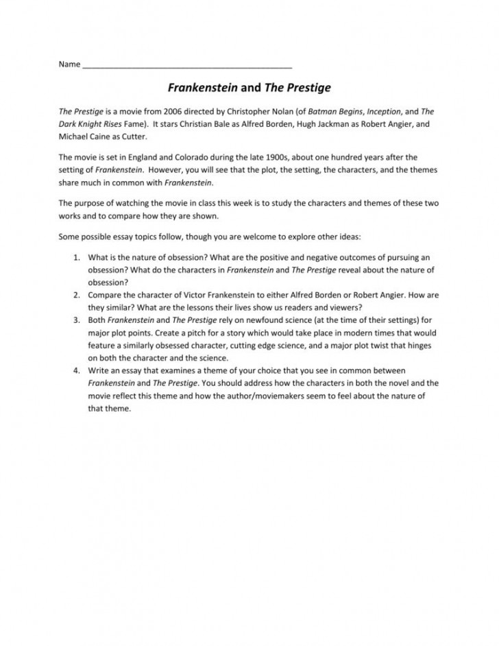 002 Shocking Frankenstein Essay Concept  Critical Pdf Question Who I The Real Monster728