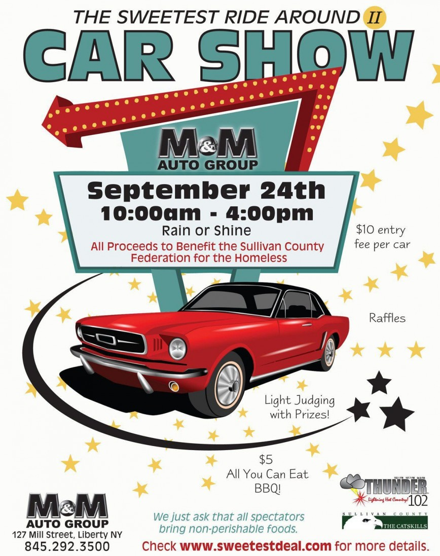 002 Shocking Free Car Show Flyer Template Picture  Download And Bike Psd