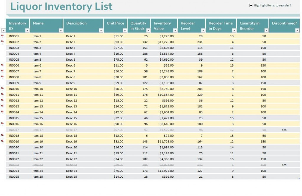 002 Shocking Free Liquor Inventory Spreadsheet Template Excel Highest Clarity Large