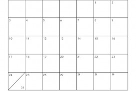 002 Shocking Free Printable Blank Monthly Calendar Template Highest Quality
