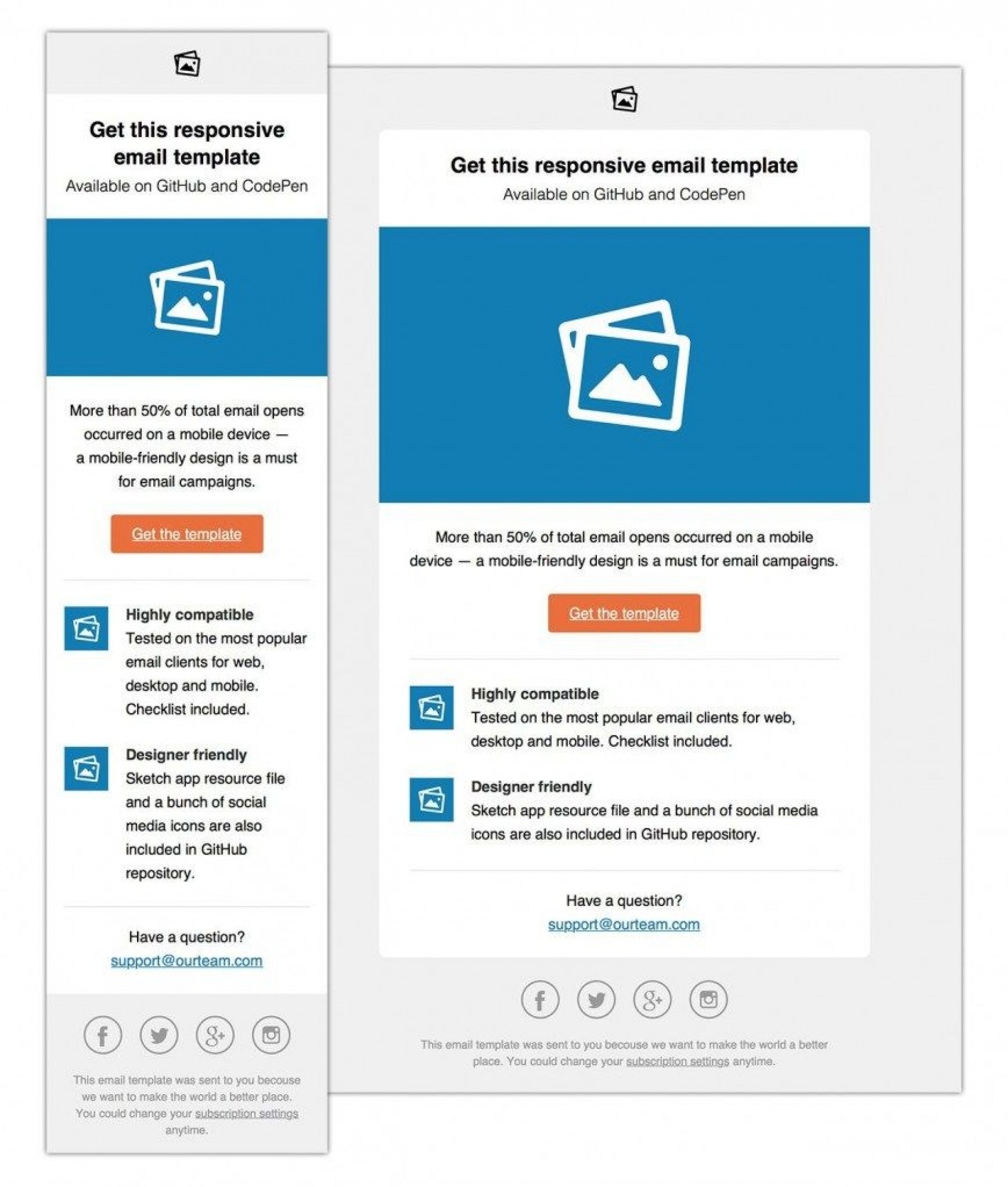 002 Shocking Free Responsive Html Email Template Download Highest Clarity  Simple App-responsive-notification-email-html-template1920