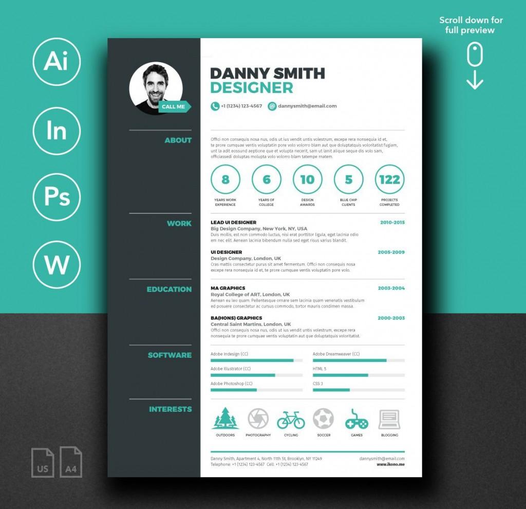 002 Shocking Free Stylish Resume Template Idea  Templates Word DownloadLarge