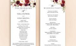 002 Shocking Free Word Template For Wedding Program Inspiration  Programs