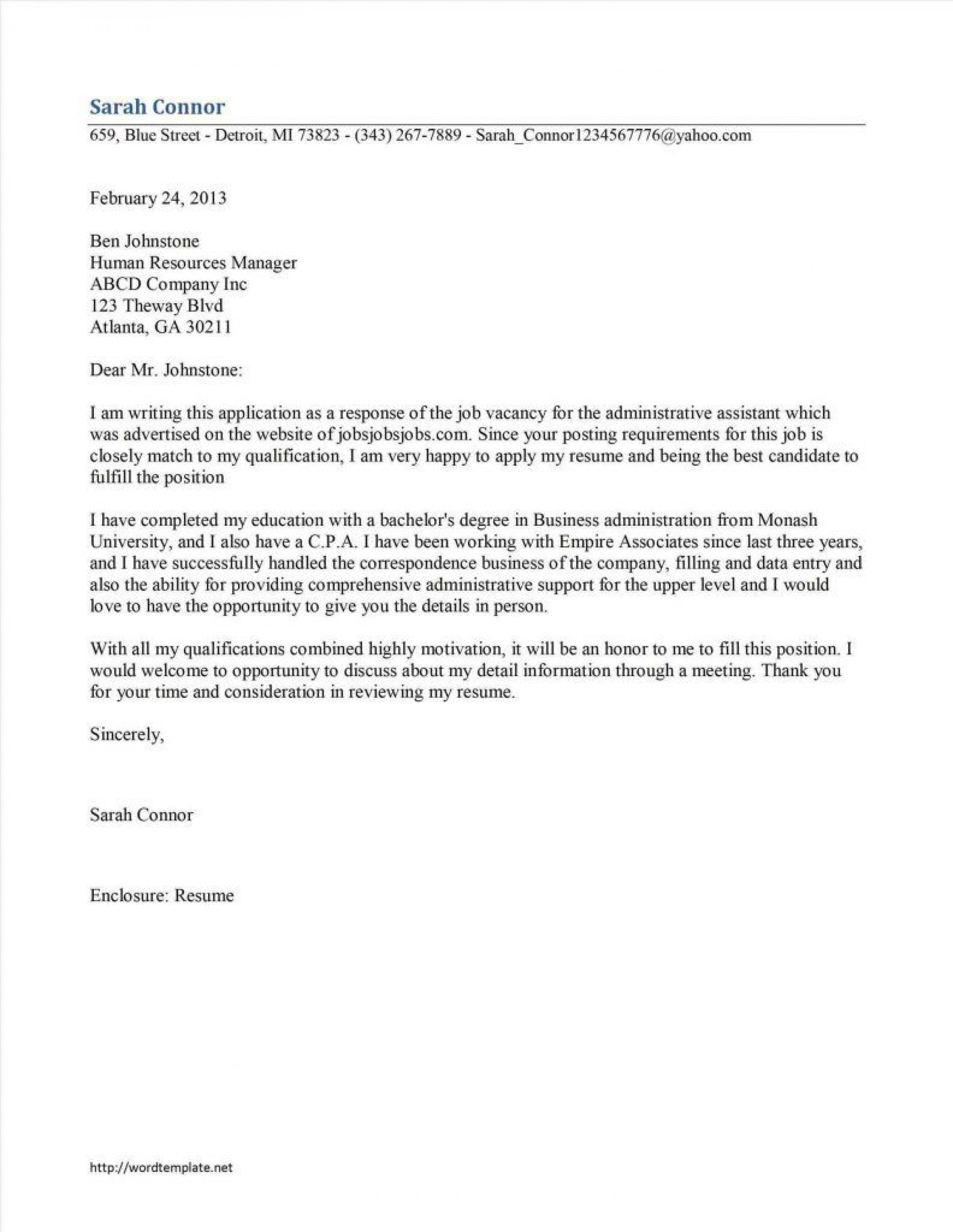 002 Shocking Good Cover Letter Example Download High Definition  Word1920