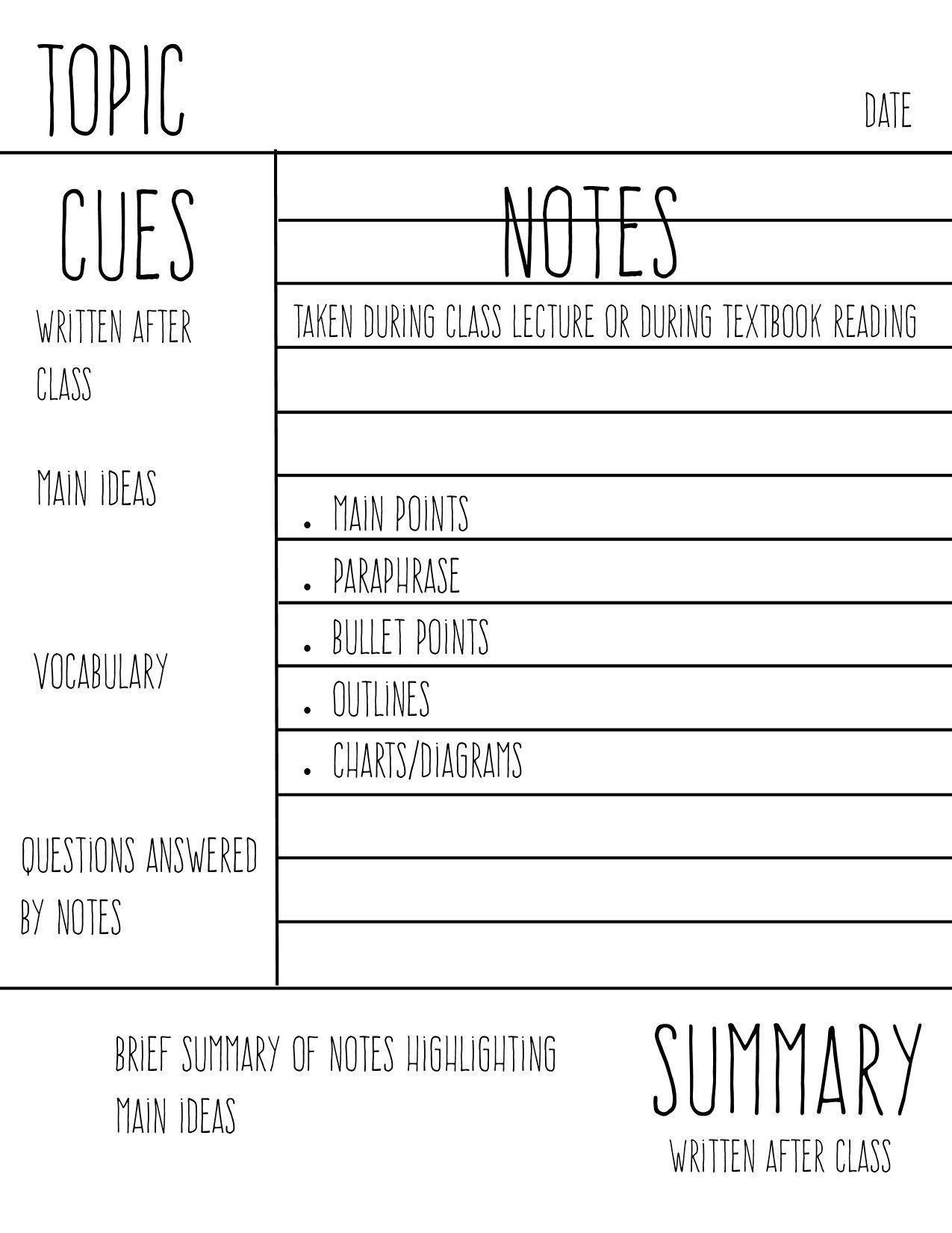 002 Shocking Law School Note Taking Template High Resolution Full