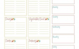 002 Shocking Meal Plan With Printable Grocery List Idea  Planning Template Excel Free