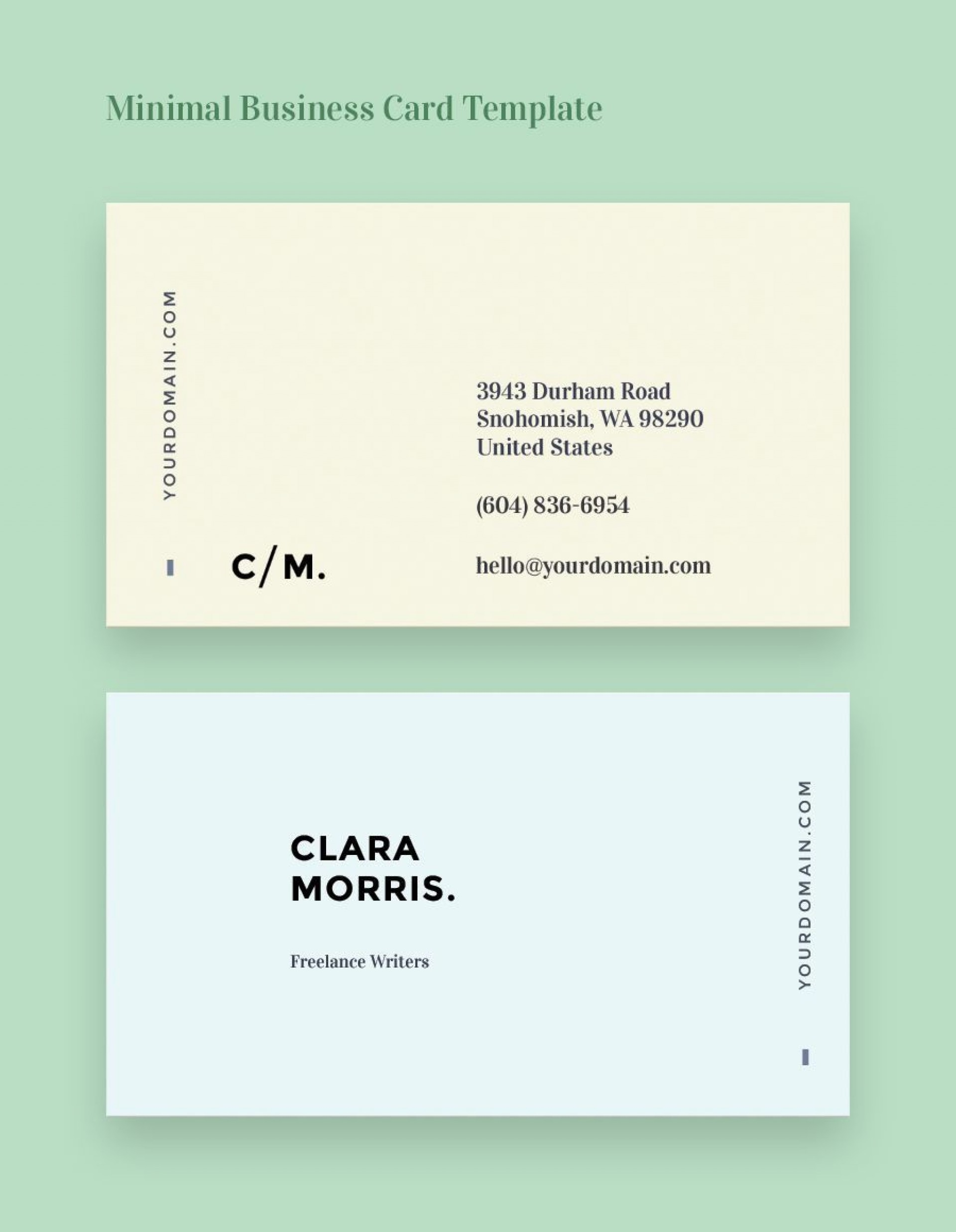 002 Shocking Minimalist Busines Card Template Free High Resolution  Minimal Psd1920