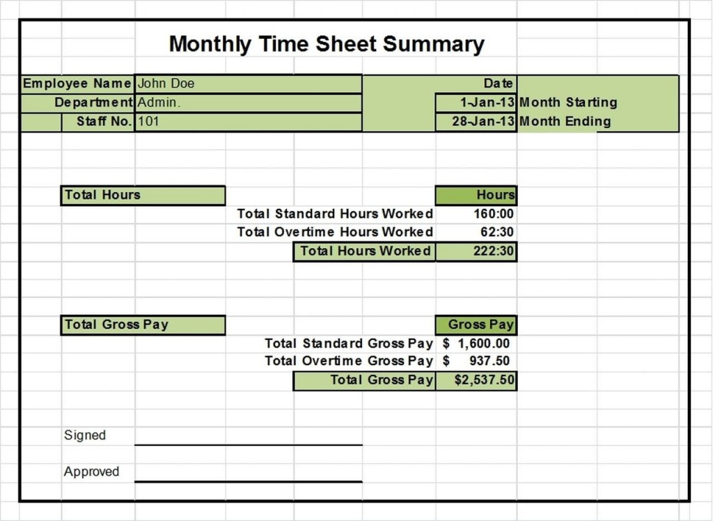 002 Shocking Monthly Timesheet Excel Template Design  Multiple Employee Free Semi-monthly 2020Large