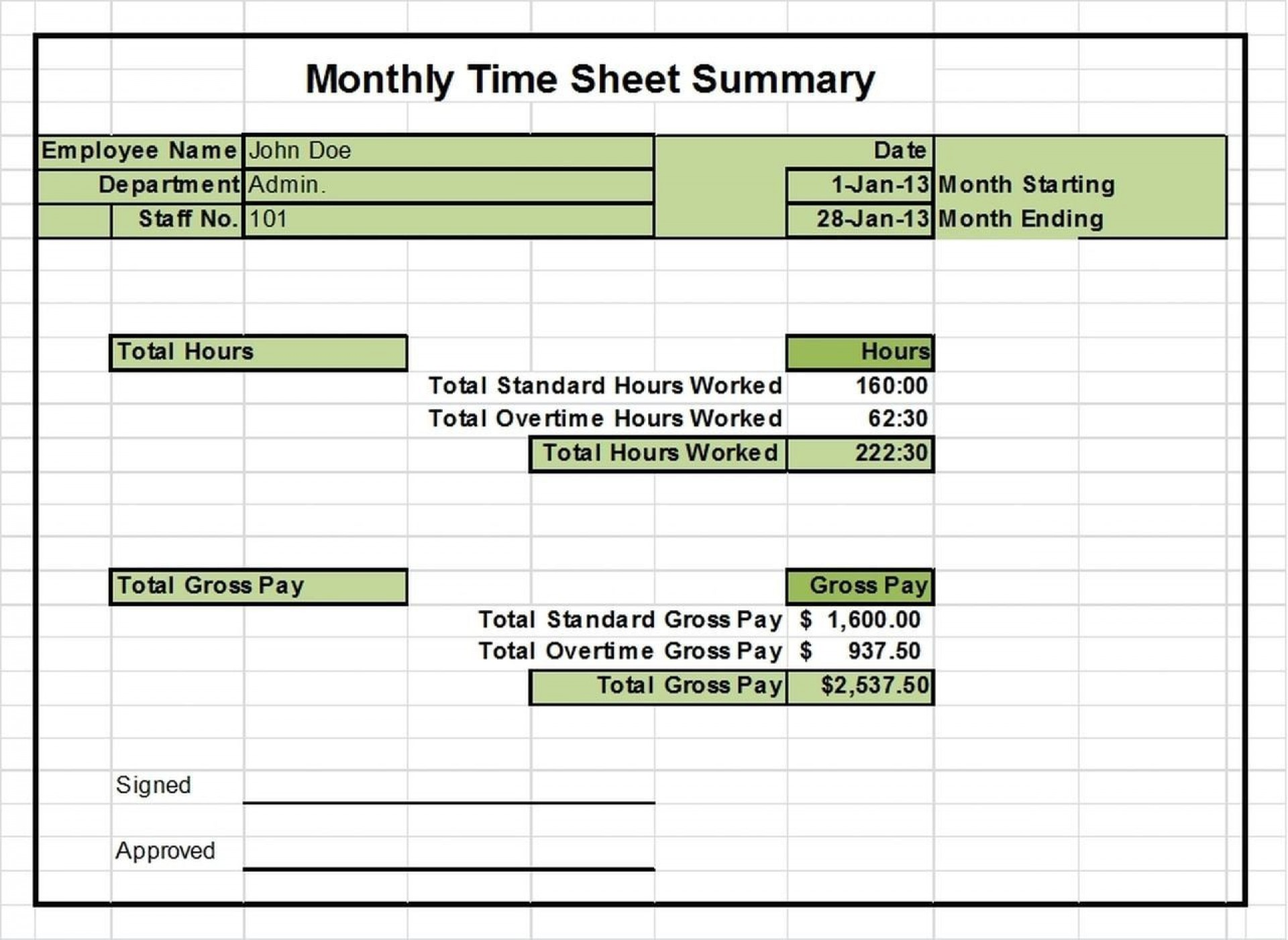 002 Shocking Monthly Timesheet Excel Template Design  Multiple Employee Free Semi-monthly 20201920