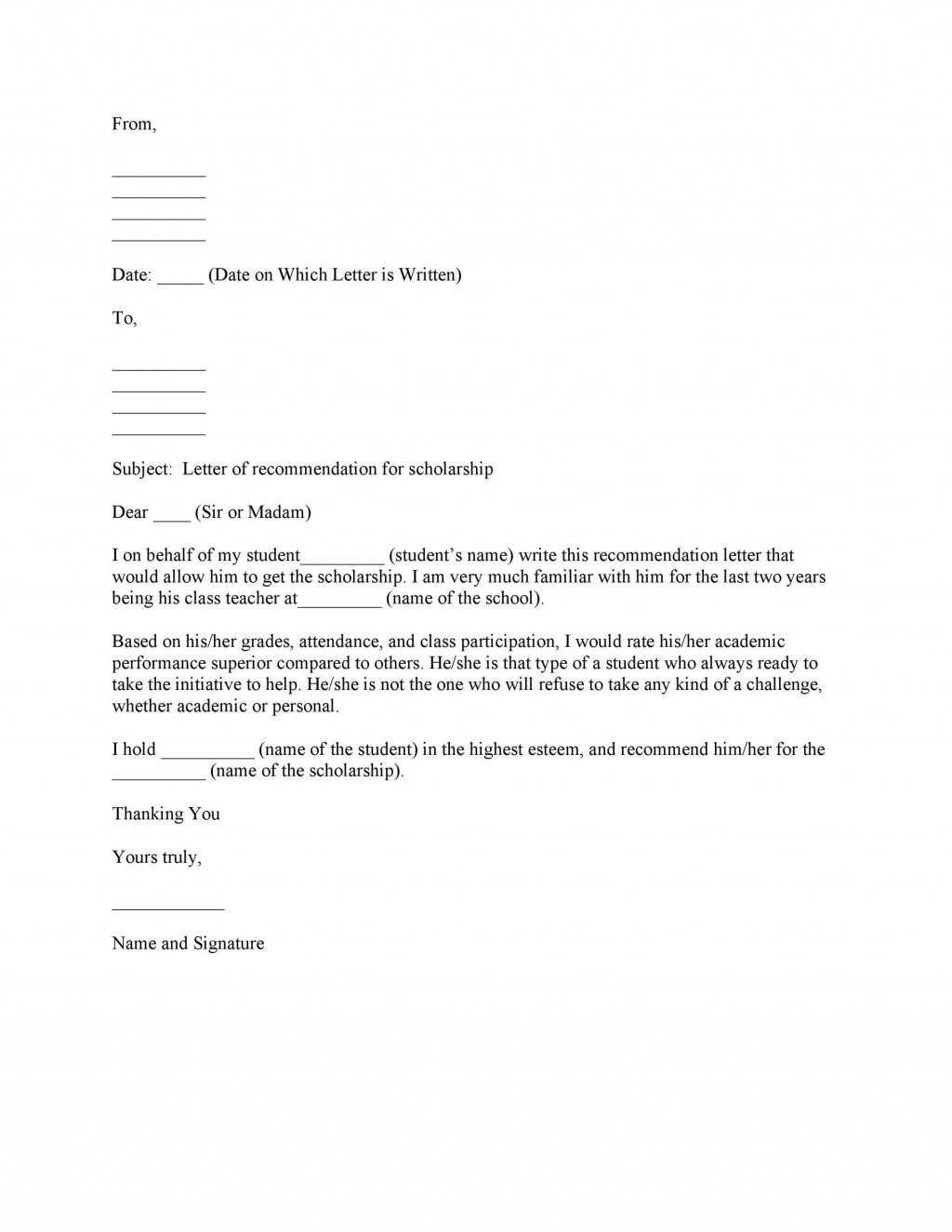 002 Shocking Personal Reference Letter Of Recommendation Template Highest Clarity  Sample CharacterLarge