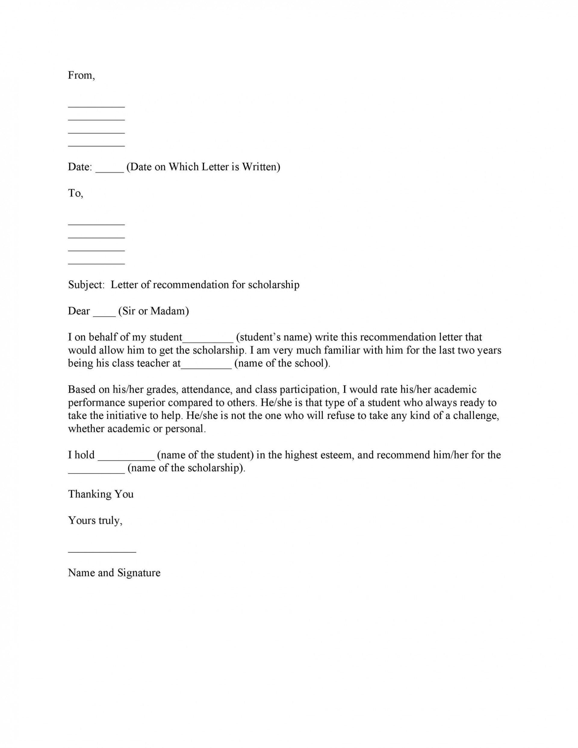 002 Shocking Personal Reference Letter Of Recommendation Template Highest Clarity  Sample Character1920