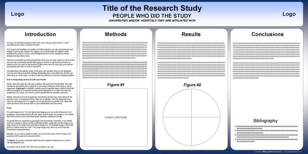 002 Shocking Scientific Poster Template Free Powerpoint Example  Research PresentationLarge