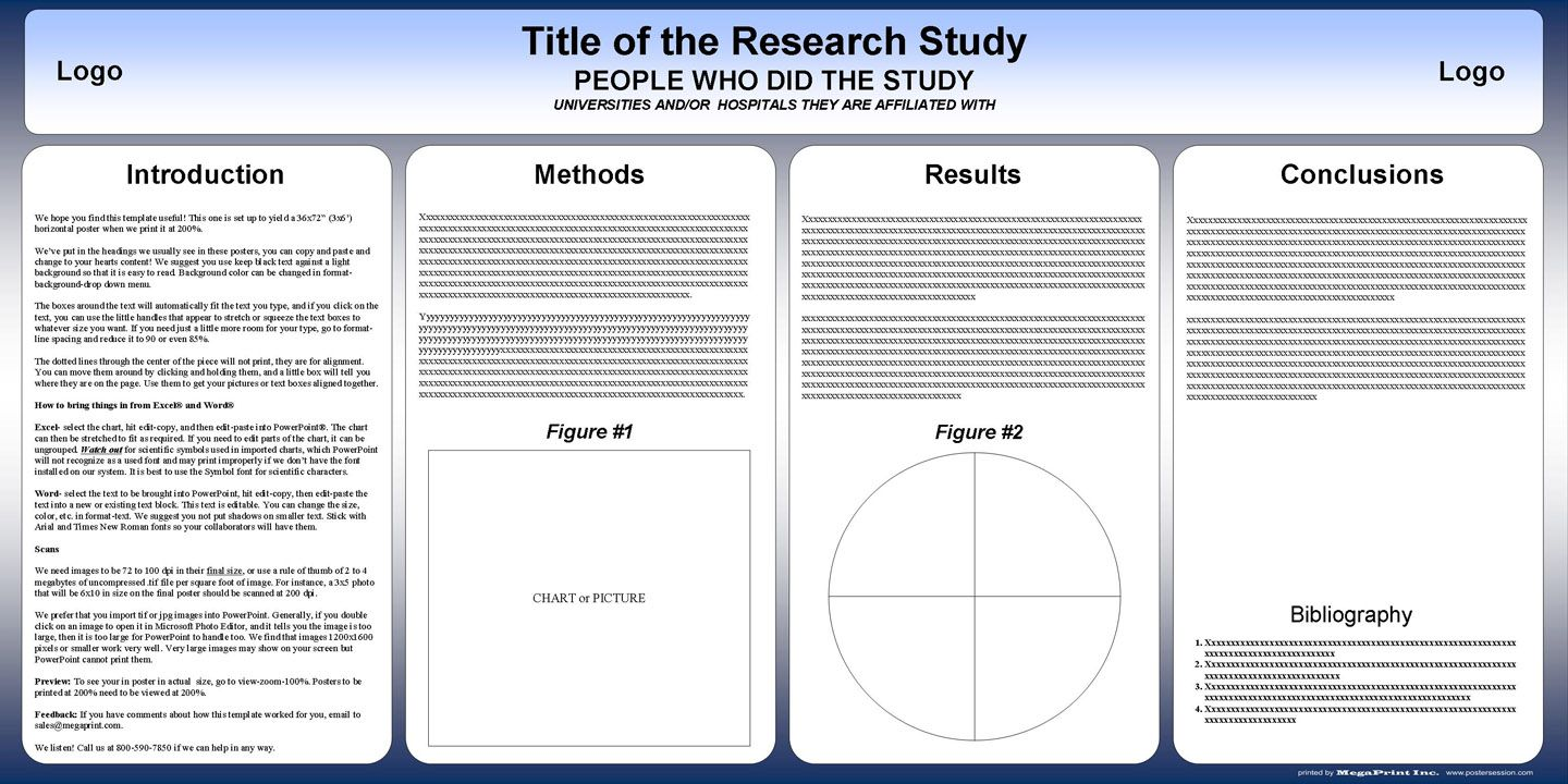 002 Shocking Scientific Poster Template Free Powerpoint Example  Research PresentationFull
