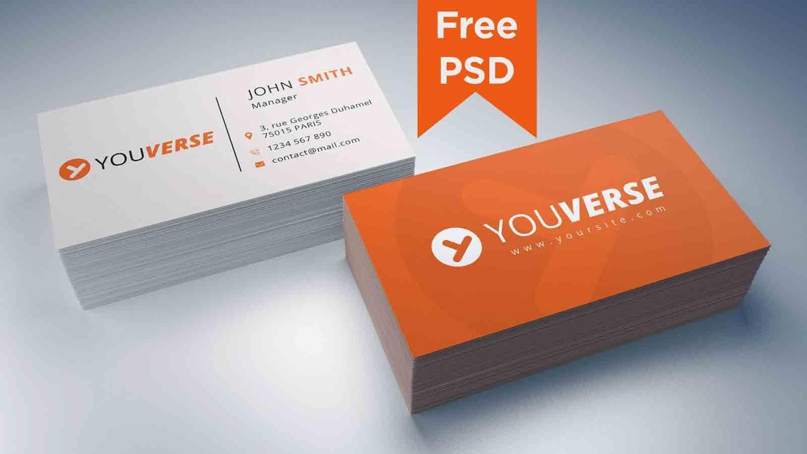 002 Shocking Simple Visiting Card Design Psd File Free Download Idea Full