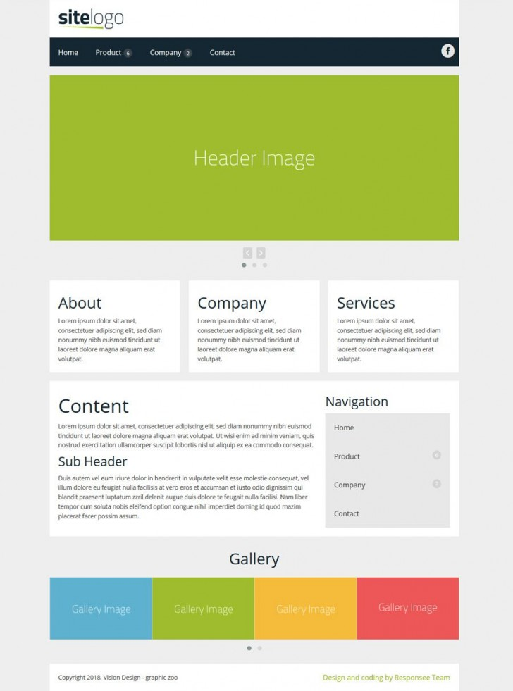 002 Shocking Simple Web Page Template Concept  Html Website Free Download In Design Using And Cs728