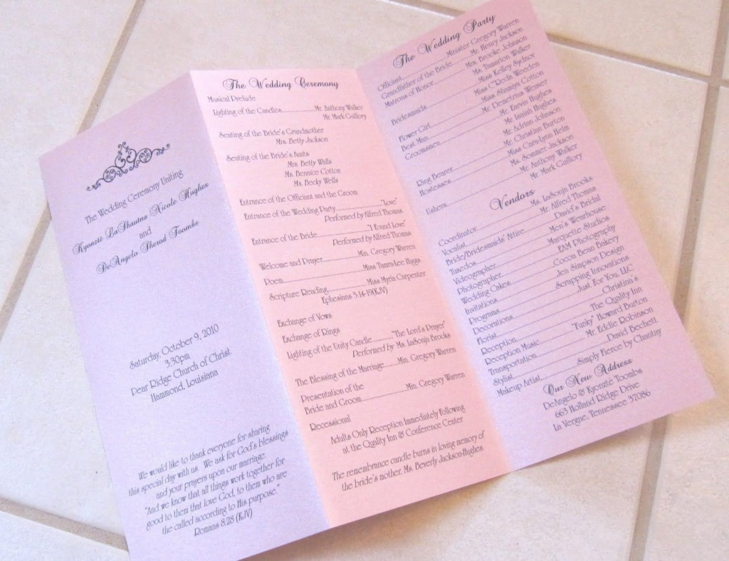 002 Shocking Trifold Wedding Program Template Design  Tri Fold Word Folded ExampleLarge