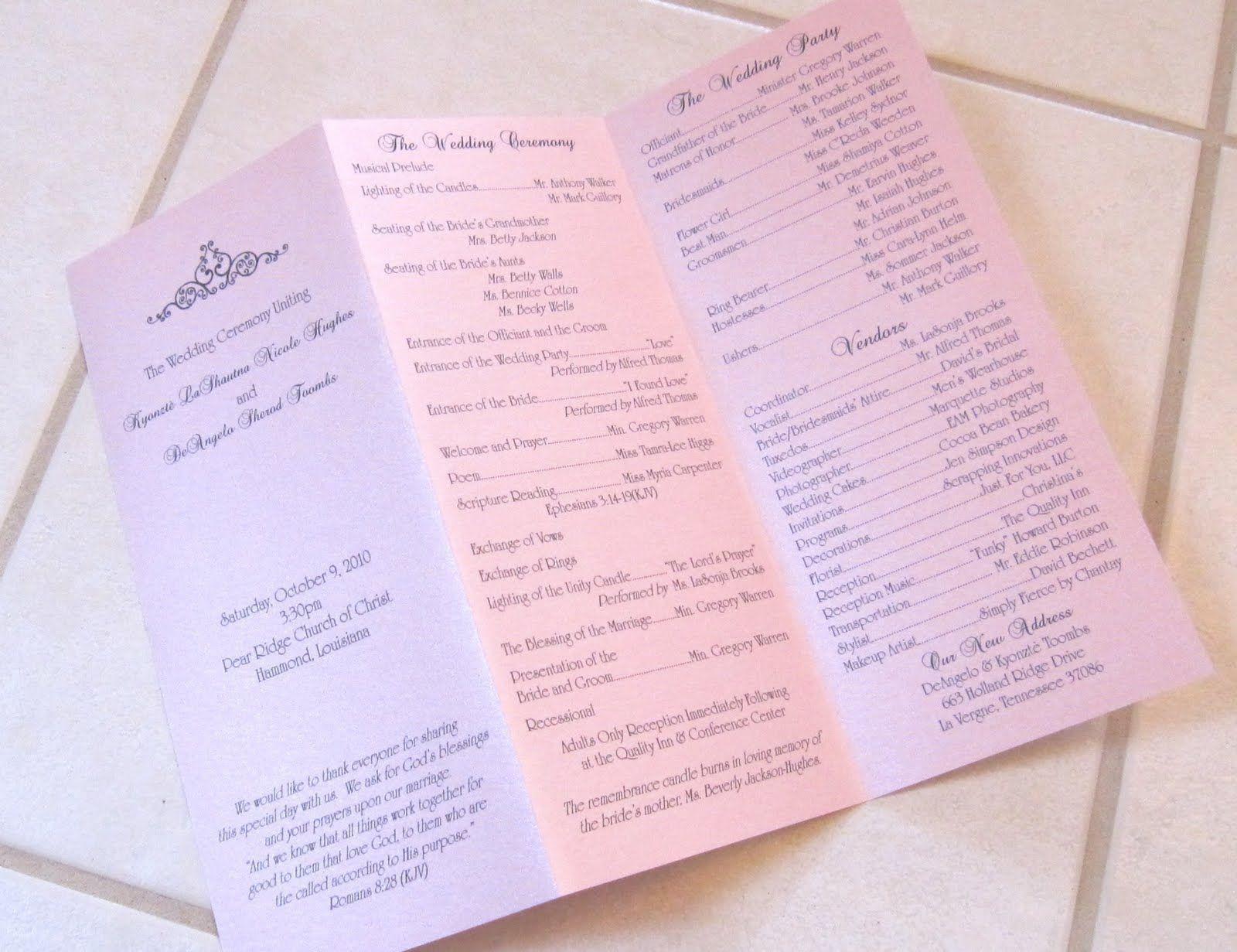 002 Shocking Trifold Wedding Program Template Design  Tri Fold Word Folded ExampleFull