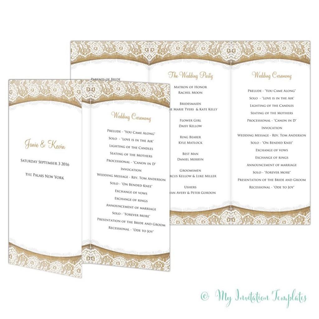 002 Shocking Trifold Wedding Program Template Idea  Templates Tri Fold Tri-fold Publisher Free FoldableLarge