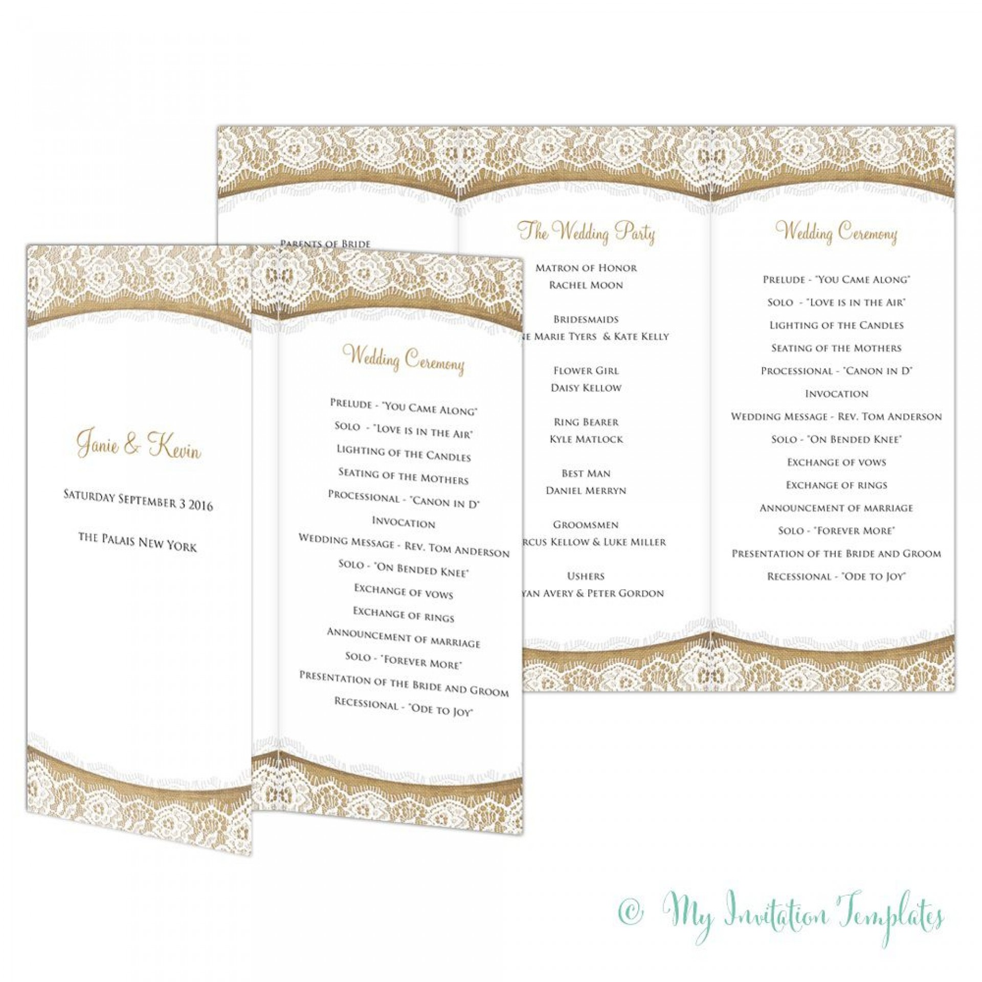 002 Shocking Trifold Wedding Program Template Idea  Templates Tri Fold Tri-fold Publisher Free Foldable1920
