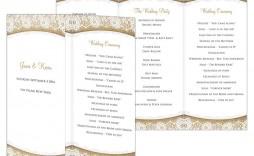 002 Shocking Trifold Wedding Program Template Idea  Templates Tri Fold Tri-fold Publisher Free Foldable