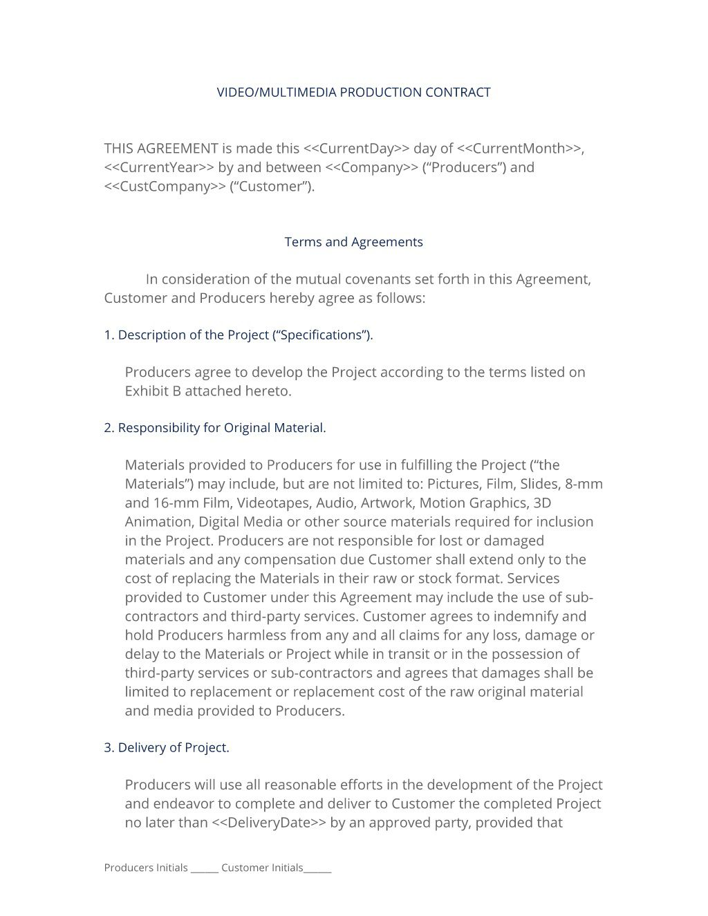 002 Shocking Wedding Videographer Contract Template High Definition  Videography PdfFull