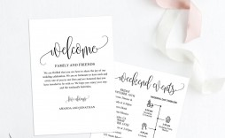 002 Shocking Wedding Welcome Letter Template Download High Resolution