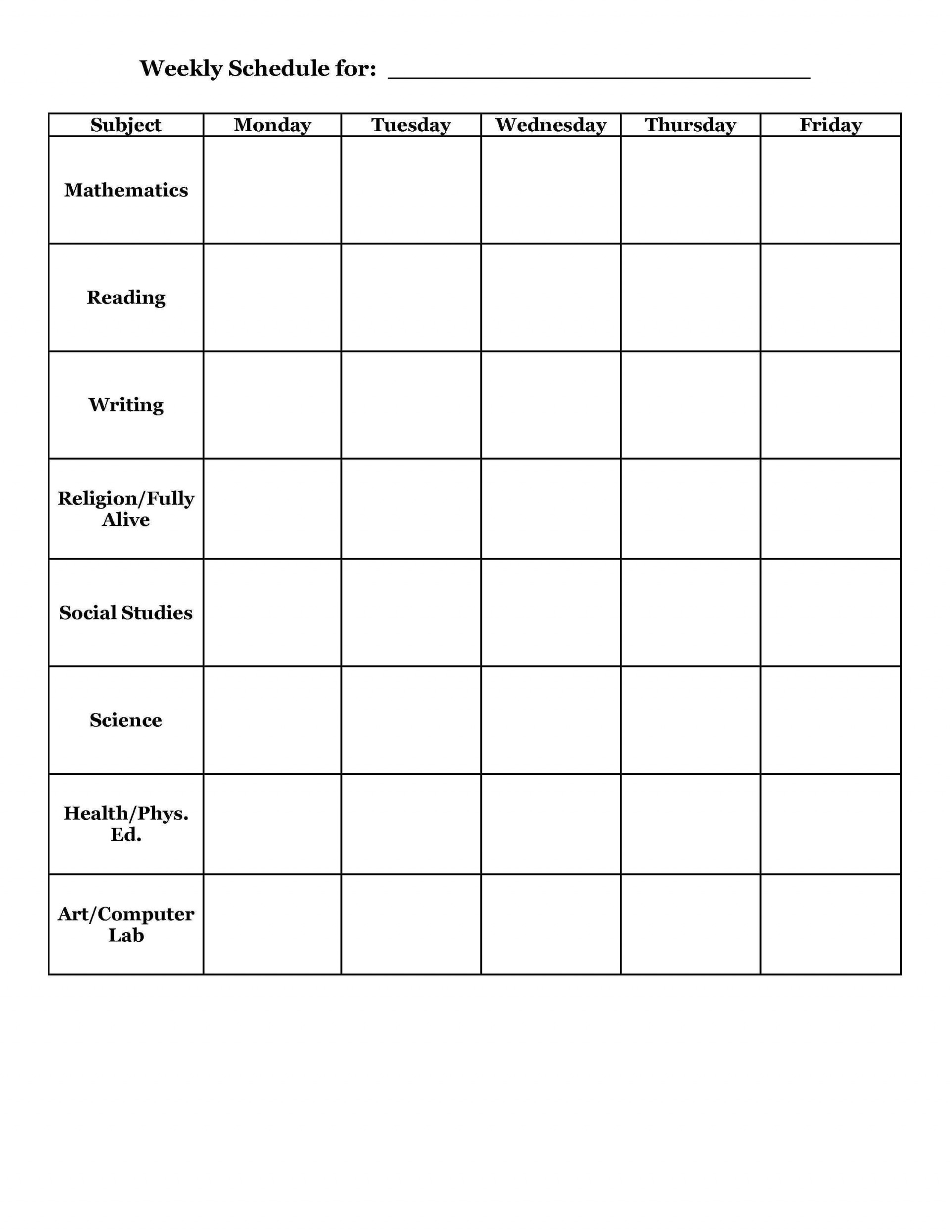 002 Shocking Weekly School Planner Template Sample  Lesson Plan Primary Planning Schedule Printable1920