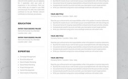 002 Simple 1 Page Resume Template Concept  Templates One Basic Word Free Html Download
