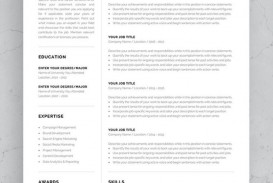 002 Simple 1 Page Resume Template Concept  One Microsoft Word Free For Fresher