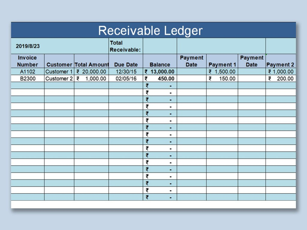 002 Simple Account Receivable Excel Spreadsheet Template Highest Clarity  Management Dashboard FreeLarge