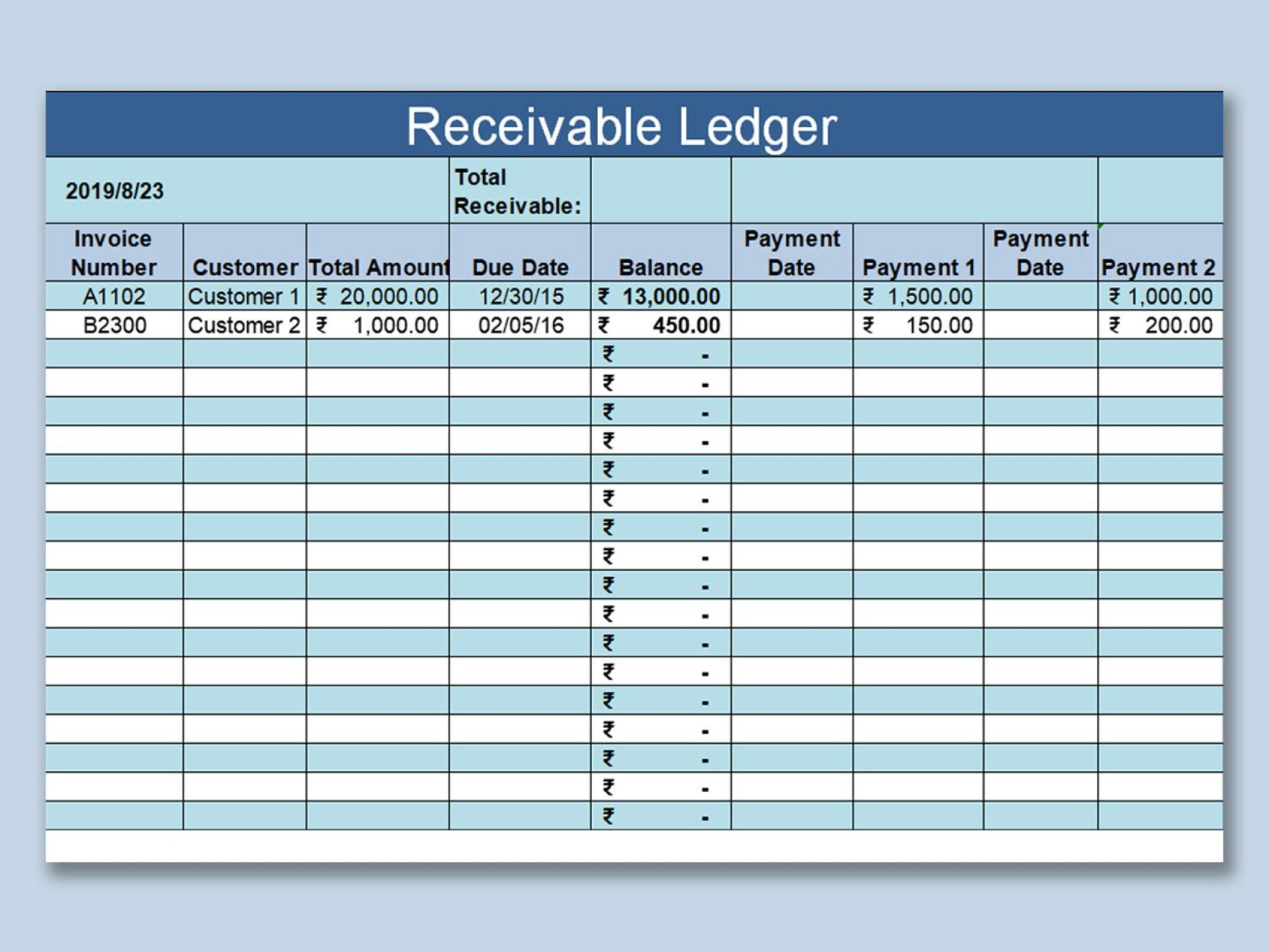 002 Simple Account Receivable Excel Spreadsheet Template Highest Clarity  Management Dashboard Free1920