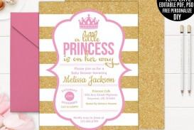 002 Simple Baby Shower Invitation Girl Printable Idea